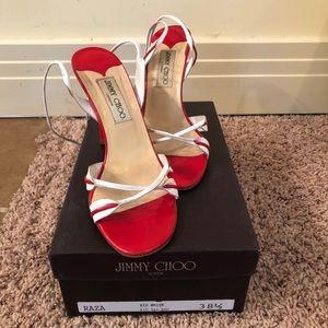 Jimmy Choo Raza Sandals Sz 38 1/2